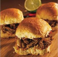 Mini BBQ Chicken Sandwiches - Generations Magazine - April - May 2012