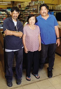 Mrs. Misaki enjoys still being able to help in the store with Lorri's brothers, Gil and Kevin.