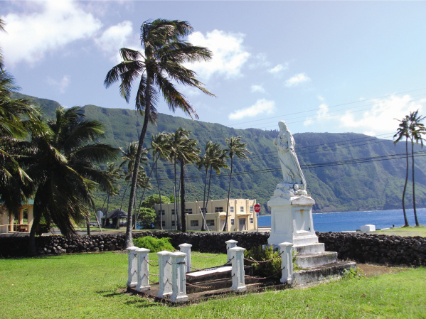 A view to Kalaupapa pier from the courtyard of St. Francis Catholic Church. Photo courtesy of Father Pat.