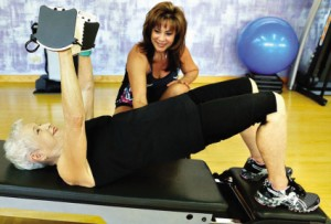 She works on her health and fitness every day with Diane Cadinha.