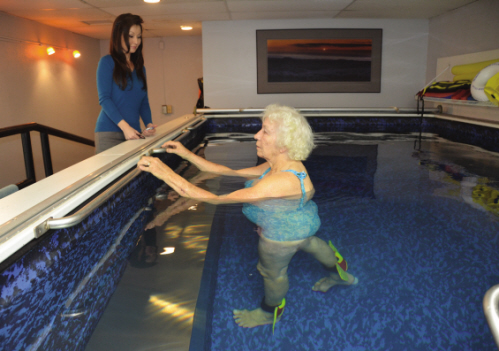 Ivalee in aquatic therapy