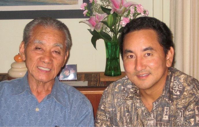Herbert Shimabukuro and son Chris