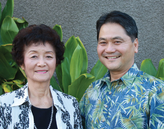 Cyrus Tamashiro and his mother Louise