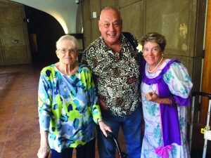 FREQUENT FLYERS: (From left) Jeani Withington from Hilo, Jim Cisler from Kailua-Kona, and Adele Rugg from Kahului attend Kupuna Caucus meetings in Honolulu.
