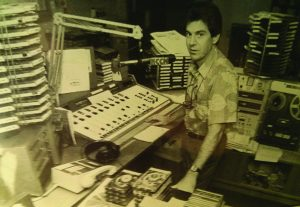 Harry B. Soria, Jr. broadcasting on KCCN 1420 AM radio in Honolulu, Hawaii. Much of the equipment in this studio of 1980 is no longer used in the industry. Today, Harry B. continues to create the sound of yesteryear in state-of-the-art broadcast facilities.