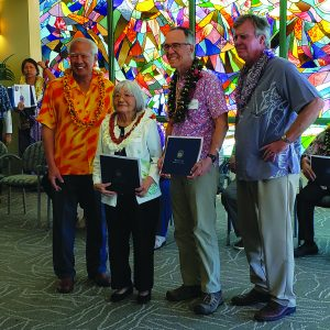 (L) Hawai'i County awardees Lora Akase-Nagle and James Waddington.