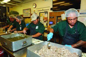 Lanakila Meals on Wheels kitchen crew.
