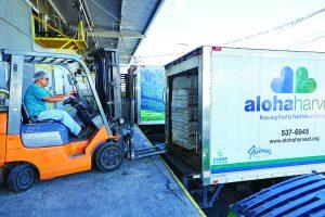 Aloha Harvest picking up donations
