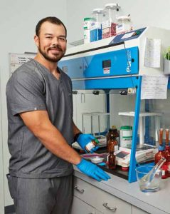 Filling OCOCA prescriptions is a specialty service of pharmacists like Jake Blechta, who is licensed by the State of Hawai'i for compounding medications.