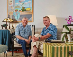 Advocacy for OCOCA crested when hematologist-oncologist and palliative care expert Charles Miller, MD, became the attending physician for a terminally ill patient, professional lobbyist John Radcliffe (left). Two old family friends joined the fight to give everyone in Hawai'i the legal option of medical aid-in-dying. The legislative act became law a year ago.