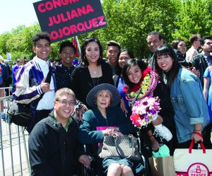 My niece, Juliana, graduated from college in 2017. Mom was always proud to attend any of her family's celebrations.