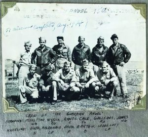 Art Shak (bottom, L) arrived in Italy in March 1944. He and his Guardian Angel bomber crew completed 51 missions that year, narrowly escaping death after two of the plane's engines were destroyed and gas lines were severed by enemy fire, and with a 500-pound bomb stuck in the bomb bay.