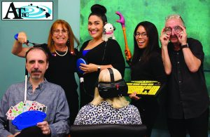 The gang's all here to help you adapt to aging with some cool devices: (L–R, front) Monty Anderson-Nitahara, Barbara Fischlowitz-Leong, (back) Katie Friedman, Hannah Diaz, Janelle Feliciano and Harvey Gordon