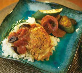Generations Magazine - Braised Chicken Thighs With Tomatoes & Olives - Image 01