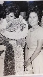 Carole with her mom, Ethel, on graduation day, McKinley High School, Class of 1962.