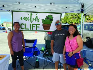 Cliff and his daughters, Cathlene and Cynthia, sell plants at the Pearlridge Saturday Market. Cliff just loves sharing his cactus and succulent expertise with new and repeat customers.