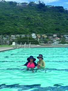 Toyoko and her daughter, Jo Ann, go swimming together nearly every day.